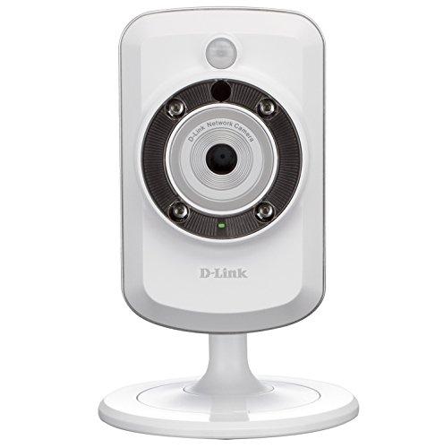 D-Link DCS-942L - Cámara WiFi y Ethernet videovigilancia (IP con Micro SD 16 GB, micrófono, salida de audio y visión nocturna, compatible con app mydlink - iOS y Android)