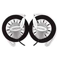 Koss KSC75 Clip-On Stereo Headphones for iPod, iPhone, MP3 and Smartphone - Black/Silver
