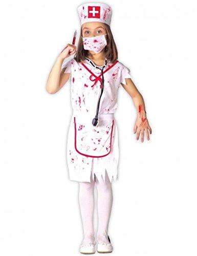 Imagen de disfraz de enfermera sangrienta para niña  4 6 años