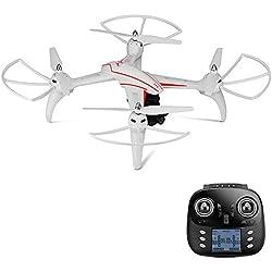 Goolsky WLtoys Q696-D 2.4G Drone con Cámara HD 1080P con 2 Ejes Cardán RC Quadcopter Barómetro Conjunto Altura RTF Aviones no tripulados