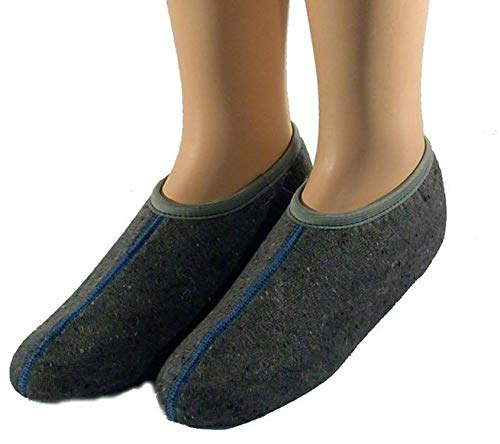 AKTION Warme Stiefelsocken für Gummistiefel mit Nässeschutz - Gummistiefelsocken mit Gummiband für Damen und Herren - Rosshaarsocken für Stiefel Unisex sowie Kinder, Größe:43/44