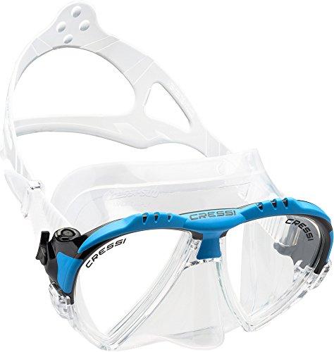 Cressi Unisex Ranger Tauchen Schnorcheln Maske,Klar/Blau,one size