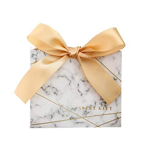 Chinashow 30 Stück Dekorative Festlichkeits-Kasten-Hochzeitsfest-Bevorzugungs-Kasten-Süßigkeits-Taschen-Schokoladen-Geschenkboxen Glück