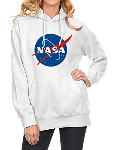 Nlife Männer Frauen Unisex Mode NASA Brief Drucken Langarm Hoodie Sweatshirt