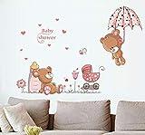 Autocollant Mural, Dessin Animé Mignon Ours Animal Bébé Voiture Bricolage Autocollant Sticker Mural Vinyle Enfant Maison Sticker Mural Salon Chambre Décor