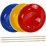 3 pièces Assiette Chinoise avec 3 baguette en bois ou 3 baguette en plastique - vendu par SchwabMarken