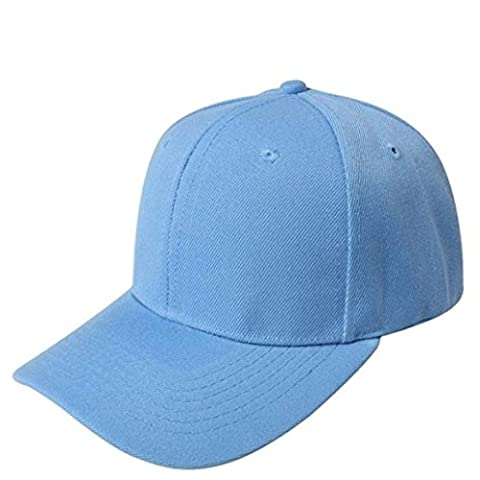 Ansenesna Baseball Mütze Blank Hut fest Color adjustable Hut (Blau2)