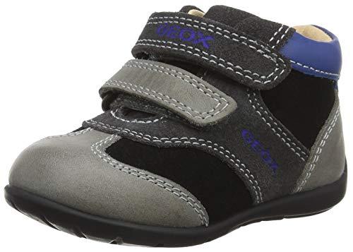 Geox Baby Jungen B Kaytan A Sneaker, Grau (Black/Dk Grey C0005), 19 EU