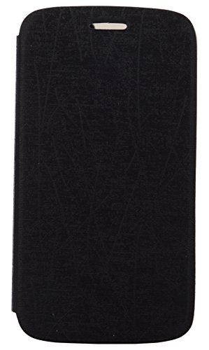 iCandy Soft TPU Non Slip Back Shell PU Leather Hybrid Flip Cover for Samsung Galaxy Grand 2 S7106 - BLACK  available at amazon for Rs.99