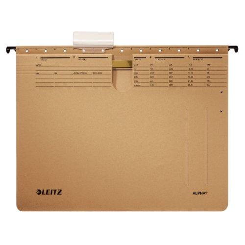 Preisvergleich Produktbild Leitz 19143000 Hängehefter Alpha, kaufmännische Heftung, Natronkarton, 10 Stück, naturbraun