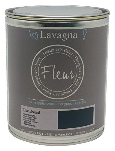 To-Do 13246 Colore Acrilico, Effetto Lavagna Fleur, 750 ml, Blackboard, Nero, 11x31x13 cm