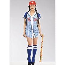 Magic Box Traje de Chica Mujeres béisbol Jugador Small (UK ... 72e4091cf98