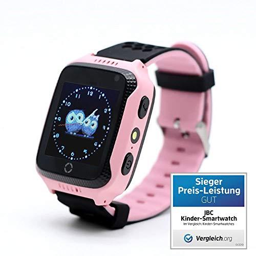 JBC GPS Telefon Uhr- Kleiner Abenteurer - ohne Abhörfunktion, sicherem Deutschen Server, SOS Notruf + Telefonfunktion, Anleitung + App + Support: auf Deutsch