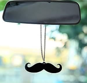 Moustache fibre Sticker Die Cut Decal label Hanging for car - Large