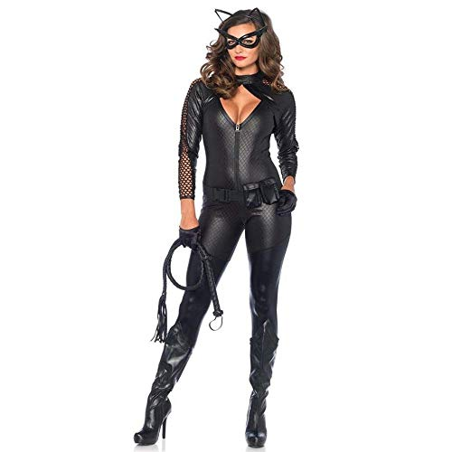 lloween kostüme Frauen Halloween cat kostüm uniform Body kostüme Theme Party kostüm (Color : Black, Size : M) ()