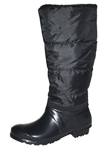 Bockstiegel Damen Thermo Stiefel Winterstiefel Gummistiefel Regenstiefel Schuhe schwarz gefüttert (40)