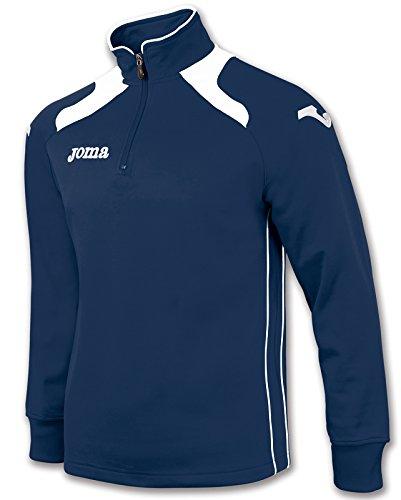 MAG Joma Abbigliamento Sportivo Felpa Zip Champion II Uomo Bambino Uniforms Navy Bianco
