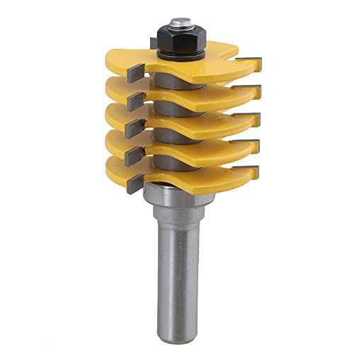 bqlzr verkittet Hartmetall 1/5,1cm Schaft verstellbar Finger Gelenk Router Cutter 1/5,1cm Breite für Holz Türen Fenster Schrank (Einstellbare Finger-joint)