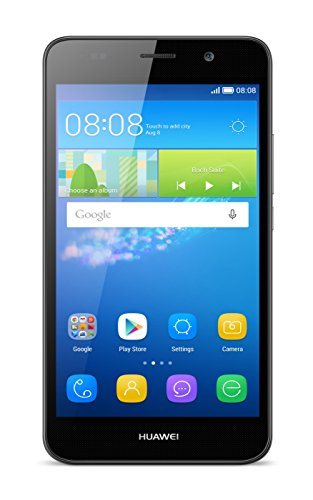 "Huawei Y6 - Smartphone libre de 5"" (Qualcomm S210 Quad Core a 1.1 GHz, 1 GB de RAM, 8 GB de memoria interna, Single SIM, Android), negro"