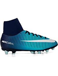 on sale 9e0ef 50a20 Botas Fútbol Nike Mercurialx Victory Vi Azul con Calcetin Suela AG Niño