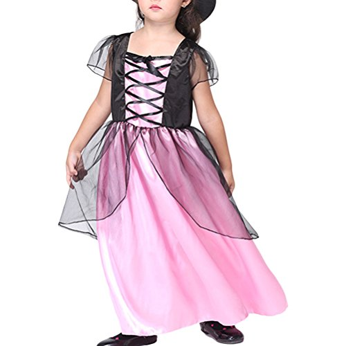 Zhuhaitf Children Kid Girl Halloween Christmas Witch Costumes Party Cosplay Fancy Long Dress 3849#