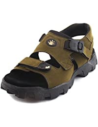 Fucasso Men's Synthetic Green Sandals