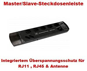 pc steckdosenleiste master slave netzfilter elektronik. Black Bedroom Furniture Sets. Home Design Ideas
