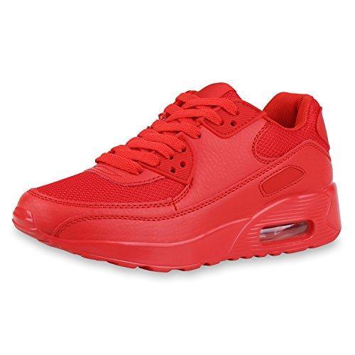 SCARPE VITA Damen Laufschuhe Profil Sohle Sportschuhe Fitness Schuhe 155397 Rot Rot 39
