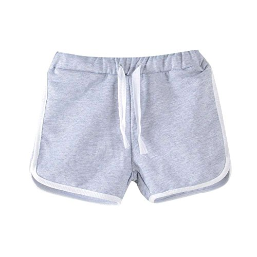 Yalatan Unisex Baby Jungen Mädchen Short Sweat Sommer Shorts Toddler Girls Boys Summer Bloomers (Twill-hose-mantel)