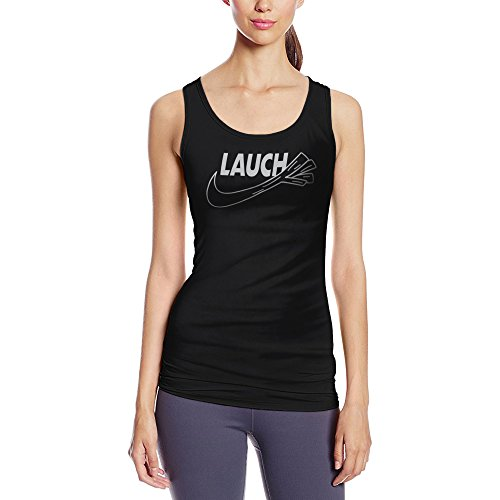 licaso Frauen Tanktop mit Aufdruck in Schwarz Gr. XXXL Lauch Sport Design Girl Top Mädchen Tank Top Damen Basic 100% Baumwolle Kurzarm