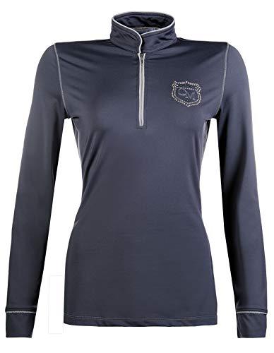 HKM Sports Equipment Cavallino Marino Funktionsshirt -Piemont-, dunkelgrau, XS