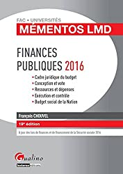 Mémentos LMD - Finances publiques 2016