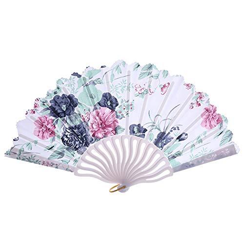Japanischer Vintage Handfächer mit ausgehöhlten Bambusfächern für Frauen zum Tanzen und Abkühlen ()