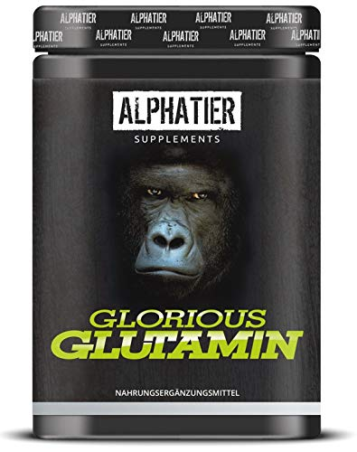 L-GLUTAMIN Pulver 500g Ultrapure - 99,95% rein - MAXIMALE DOSIERUNG - ALPHATIER Glorious Glutamine Powder ohne Zusatzstoffe - hergestellt in Deutschland - Fitness & Bodybuilding