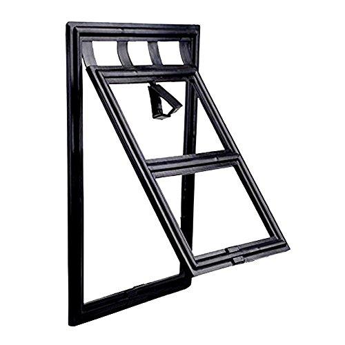 Puerta Gato del Perro Puerta para Mascotas,tamaño pequeño,color negro