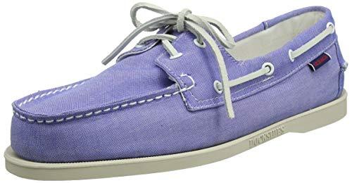 Sebago Herren Docksides Portland Shirt Bootschuhe, Blau (Mid Blue 980), 44 EU -