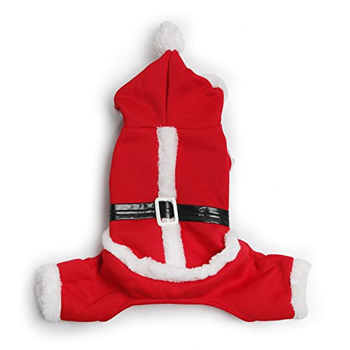 morjava Santa Claus Pet Kostüme Hund Weihnachten Katze Kleidung Winter Mantel Hoodie (Große Extra Santa Anzug)
