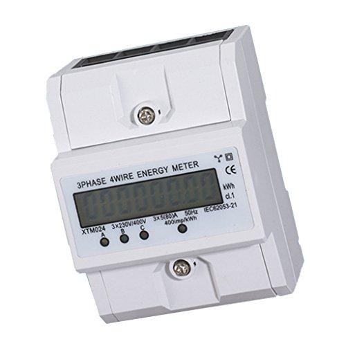 Baoblaze 3-Phase Stromzähler Elektrozähler Strom zähler LCD Anzeige Wattmeter Digitale Din-Meter Din Mount Meter