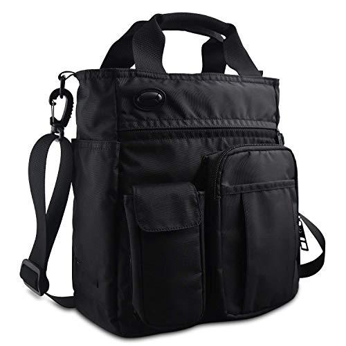 DGDD Multifunktionale Umhängetasche mit Mehreren Taschen Umhängetasche Kleiner Messenger, längenverstellbare und abnehmbare Umhängetasche für Männer und Frauen,Black