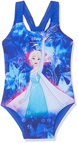 Speedo Disney Frozen, Costume da Bagno Bambine e Ragazze, Elsa Spell Beautiful Blue/Tur, 6...