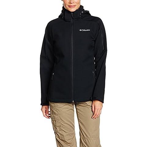 Columbia Cascade Ridge - Cortavientos para mujer, color negro, talla M