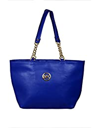 Hand-Held PU Leather Bag For Girls And Women's (Blue)