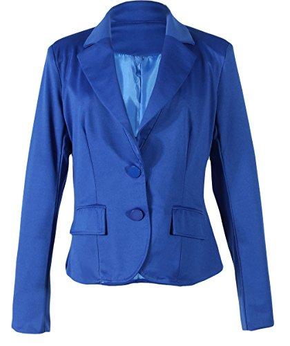 BELLA-Giacca Donna con Bottone di Poliestere Suit Giacca OL Abbigliamento Donna Azzurro Busto 95cm