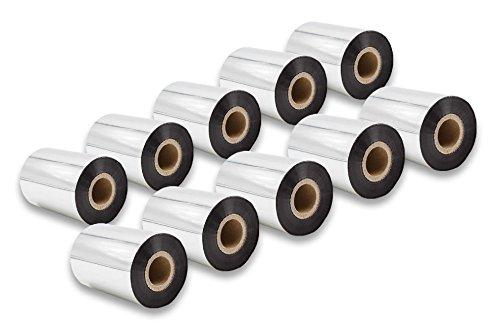 Vhbw 10x Rollos Papel térmico Negro 90mm fax, impresoras