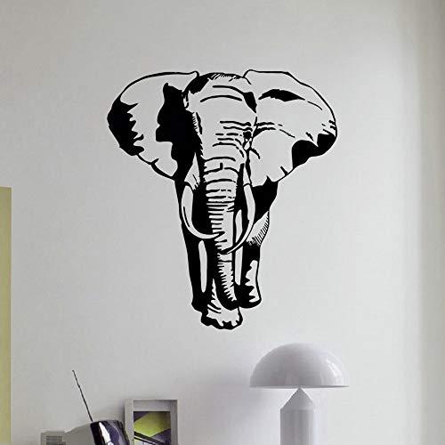 ttoos Wandsticker Elefant Wandtattoo Afrikanische Tier Wilder Elefant Pvc Wandkunst Aufkleber Afrika Safari Tier Kinder Schlafzimmer Dekoratives Dekor 65X58 Cm ()