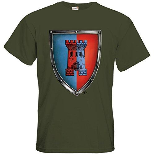 getshirts - Das Schwarze Auge - T-Shirt - Die Siebenwindküste - Wappen - Abilacht Khaki