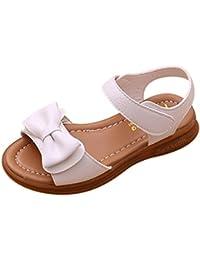 Zapatos Niña,Sandalias de bowknot para niñas pequeñas Calzado casual de princesa antideslizante para niños LMMVP