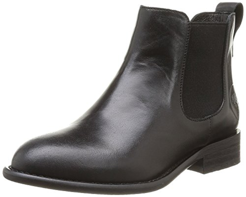 Yep , Boots mixte enfant Noir (Cuir Noir)