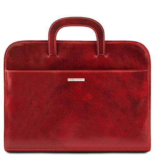 Tuscany Leather Sorrento Cartella portadocumenti in pelle Rosso