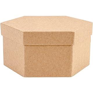 Art Alternatives Paper-Mache Hexagon Box Set 5/Pkg, Multicoloured, 15.24 x 14.73 x 7.11 cm